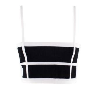 Balmain Black & white Crop Top