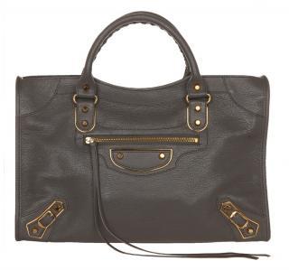 Balenciaga Metallic Edge Gris Classic City Bag