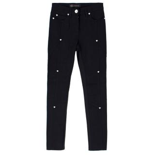 Versace Medusa Studded Cropped Jeans