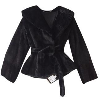 Bespoke Hooded Mink fur coat