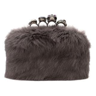 Alexander McQueen Mink Fur Knuckle Duster Clutch