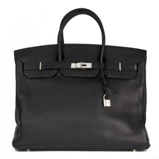 Hermes Birkin - Black Clemence Leather  40cm