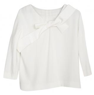 Paule Ka white bow embellished top