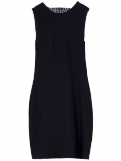 Alexander McQueen Black Lace Cowl Back Dress