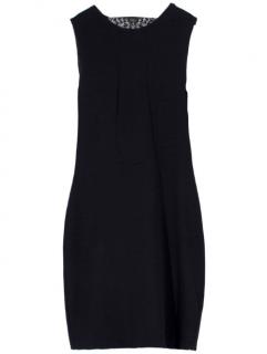 Alexander McQueen Black Lace Cowl Back Dress