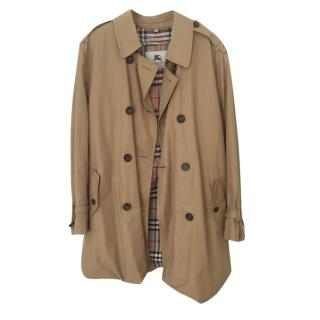 Burberry Camel Belted Trench Coat