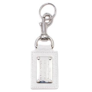 Dolce & Gabbana White Leather Keyring