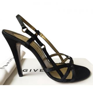 Givenchy Black Strappy Sandals