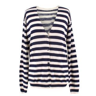 Prada Silk and Wool Striped Cardigan