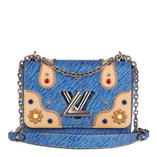 Louis Vuitton Blue Epi Leather Cabochons Twist Bag