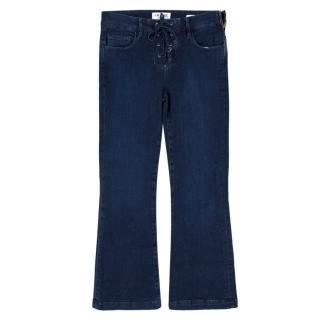 Frame Cropped Kick Flare Jeans
