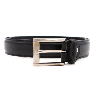 Louis Philippe Black Leather Belt