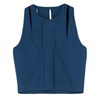 Cushnie Et Ochs Blue Cut Out Crop Top