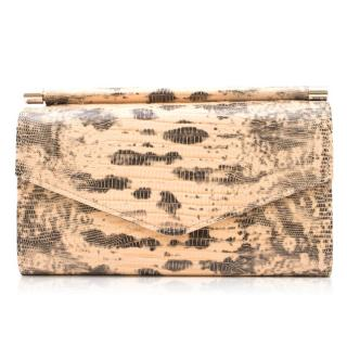 Giuseppe Zanotti Lizard Embossed Leather Wallet
