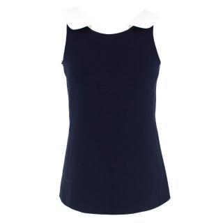 Michael Kors Navy Sleeveless Top