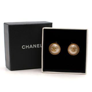 Chanel Pearl Earrings