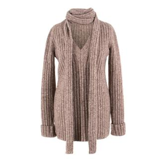 Marc Jacobs Brown Sweater & Scarf
