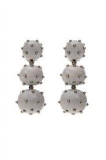 Vanda Jacintho Three Balls Wooden Earrings