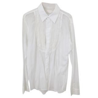 Alexander McQueen white embroidered shirt