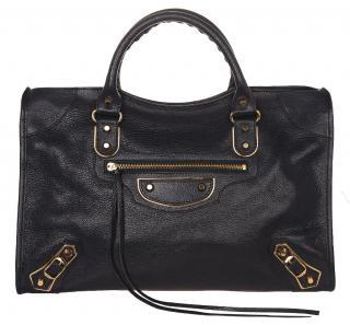 Balenciaga Metallic edge Bleu de minuit Classic City Bag