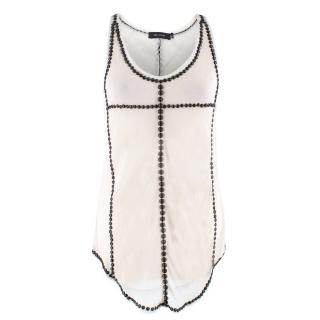 Isabel Marant Studded Silk Tank Top