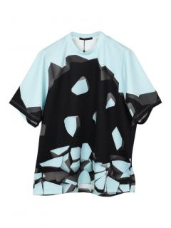 Christopher Kane oversized wallbreak print T-shirt