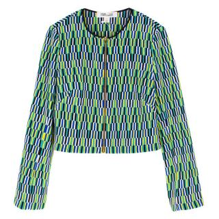 Diane von Furstenberg Embroidered Silk Jacket