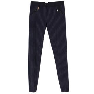 Dolce & Gabbana Pinstripe Wool-Blend Trousers