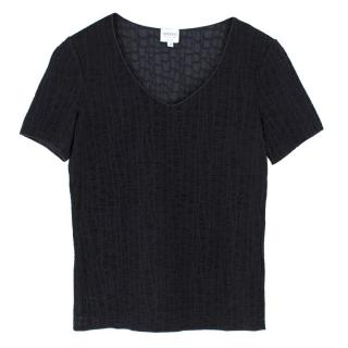 Armani Black Ruched Top