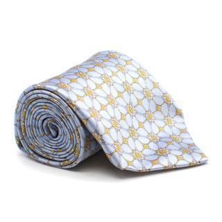 Zilli Blue Pattern Silk Tie