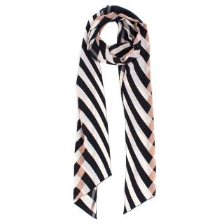 Lanvin Striped Silk Scarf