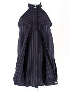 Dion Lee Cutout Pinstriped Halter Top