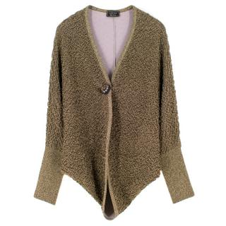 Lanvin Gold Metallic Cardigan