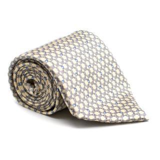 Zilli Yellow Silk Geometric Pattern Tie