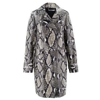 Diane Von Furstenberg Snake Skin Pattern Coat