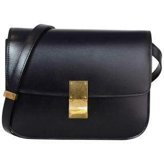 Celine Black Calfskin Medium Box Bag