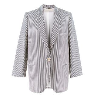 Stella McCartney Striped Classic Fit Blazer