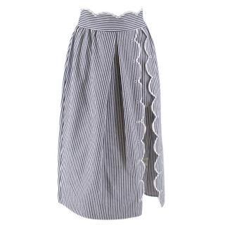Alice McCall Striped Wrap Midi-Skirt