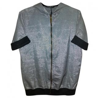 Dolce & Gabbana Silver Hooded Jacket