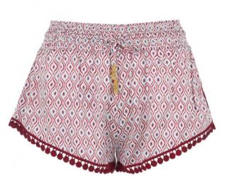 Paloma Blue Eye Cherry Satin Shorts