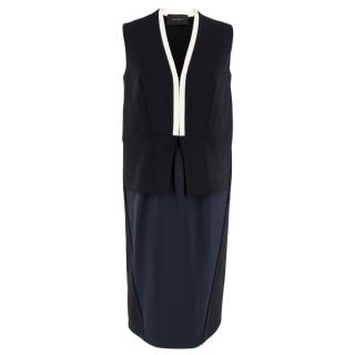 Cedric Charlier Peplum Dress