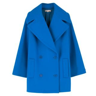 Michael Kors Blue Double Breasted Coat