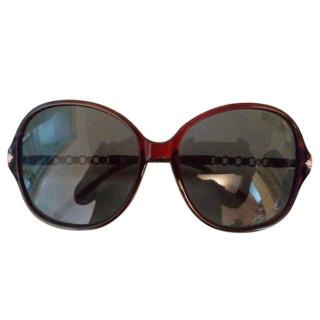 Missoni dark red bejewelled crystal sunglasses