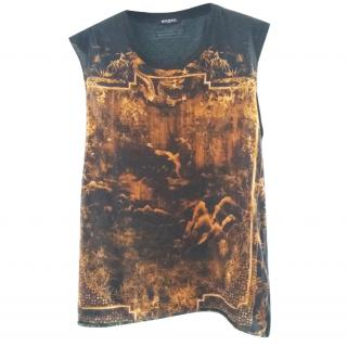 Balmain Printed Sleeveless T Shirt