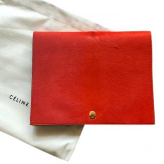 Celine ponyhair and leather clutch