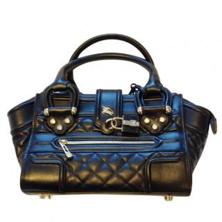 Burberry Black Manor Quilted Leather Bag