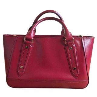 Burberry Red Patent Leather Tote Bag