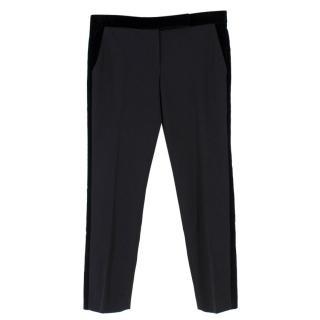 Alexander McQueen Black Velvet Panel Trousers