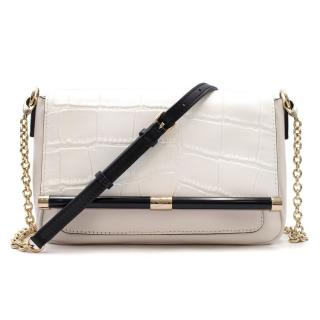 Diane Von Furstenberg White Shoulder Bag