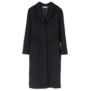 Yves Saint Laurent Black Wool Longline Coat